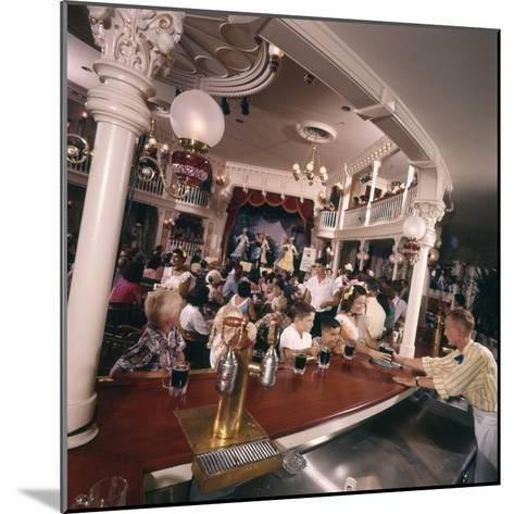 July 17 1955: Children's Saloon, the Golden Horseshoe Soft Drink Concessionaire, Disneyland, Ca-Loomis Dean-Mounted Photographic Print