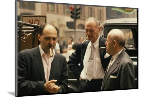 Clothing Pressers Herman Abrams, Joseph Spitalnick, and Philip Ehrlich, New York, New York, 1960-Walter Sanders-Mounted Photographic Print