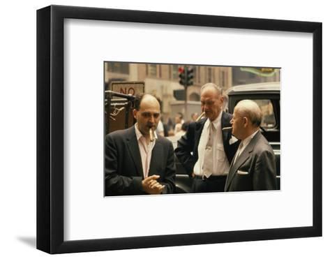 Clothing Pressers Herman Abrams, Joseph Spitalnick, and Philip Ehrlich, New York, New York, 1960-Walter Sanders-Framed Art Print