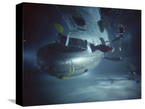Faa Underwater Evacuation Drill at the Civil Aeromedical Center, Oklahoma City, Oklahoma, 1966-Yale Joel-Stretched Canvas Print