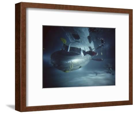 Faa Underwater Evacuation Drill at the Civil Aeromedical Center, Oklahoma City, Oklahoma, 1966-Yale Joel-Framed Art Print