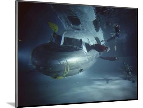 Faa Underwater Evacuation Drill at the Civil Aeromedical Center, Oklahoma City, Oklahoma, 1966-Yale Joel-Mounted Photographic Print