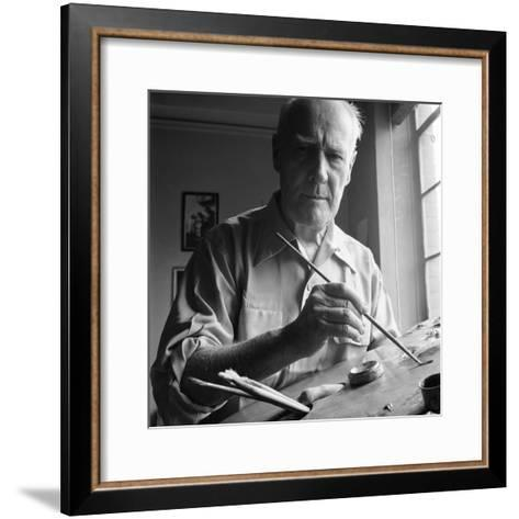 Artist Lyonel Charles Feininger (July 17, 1871- January 13, 1956), New York, NY, June 1951-Andreas Feininger-Framed Art Print