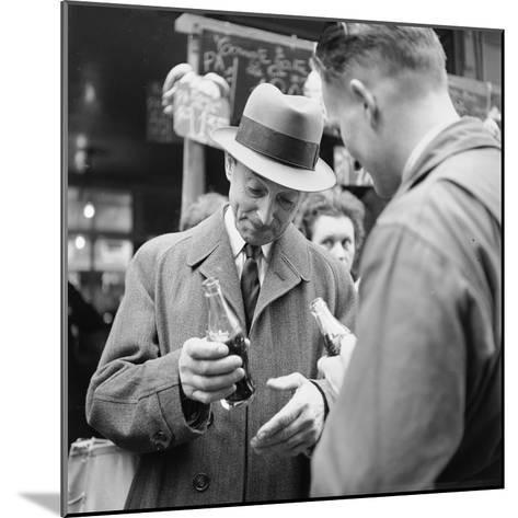 Parisians Drinking Bottled Coca Cola, Paris, France, 1950-Mark Kauffman-Mounted Photographic Print