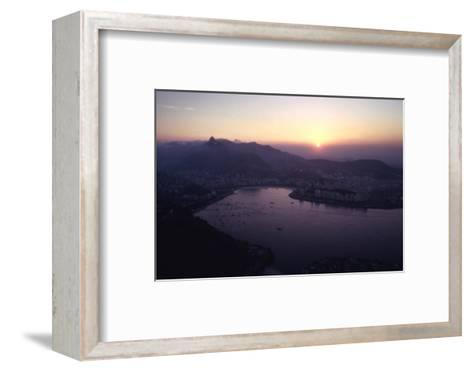 July 1973: Sunset Panoramic View of Rio De Janeiro, Brazil-Alfred Eisenstaedt-Framed Art Print