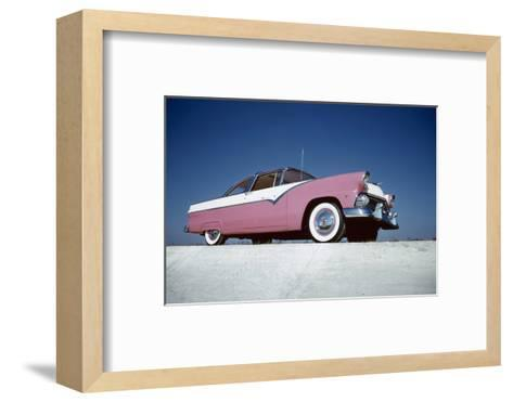 Low-Angle View of a 1954 Ford Fairlane Automobile-Yale Joel-Framed Art Print