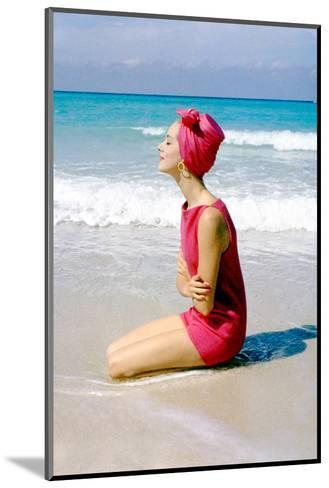 June 1956: Woman Modeling Beach Fashions in Cuba-Gordon Parks-Mounted Photographic Print