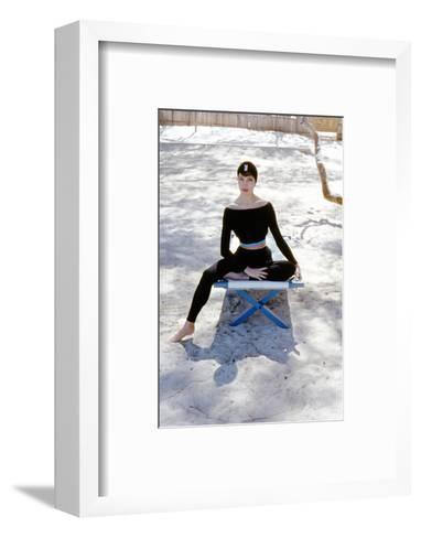 June 1956: Woman Modeling Beach Fashions in Cuba-Gordon Parks-Framed Art Print
