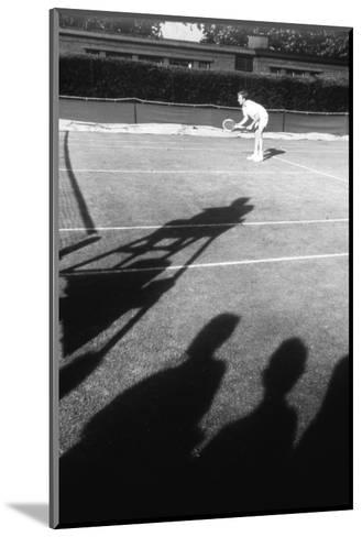 1971 Wimbledon: Tennis Player in Ready Position-Alfred Eisenstaedt-Mounted Photographic Print