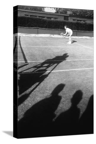 1971 Wimbledon: Tennis Player in Ready Position-Alfred Eisenstaedt-Stretched Canvas Print