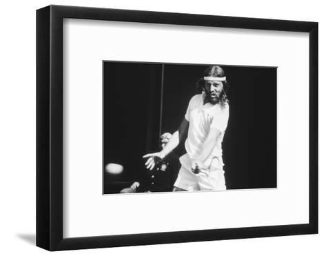 1971 Wimbledon: South African Tennis Player Ray Moore in Action-Alfred Eisenstaedt-Framed Art Print