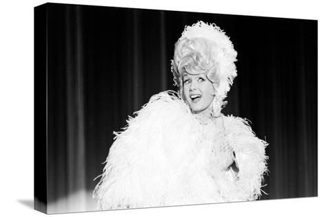 Debbie Reynolds Acting as Zsa Zsa Gabor, 1965-John Dominis-Stretched Canvas Print