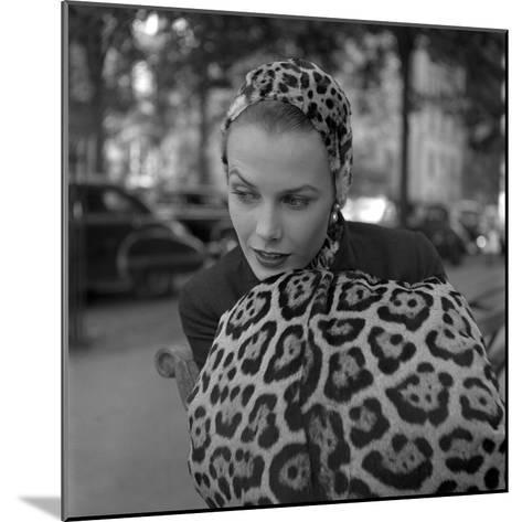 1949: Woman in Fur Fashion in New York City-Gordon Parks-Mounted Photographic Print