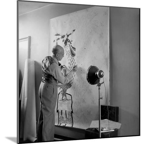 Artist Jean Lurcat Creating Tapestry. Paris, France June 1946-Ralph Morse-Mounted Photographic Print
