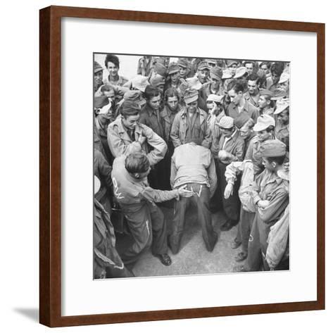 1945: Continental Central Pow Enclosure 15, Attichy, France-Ralph Morse-Framed Art Print