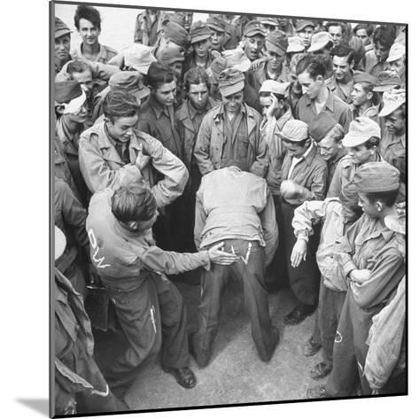 1945: Continental Central Pow Enclosure 15, Attichy, France-Ralph Morse-Mounted Photographic Print