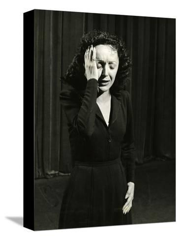 Singer Edith Piaf Performing, 1946-Gjon Mili-Stretched Canvas Print