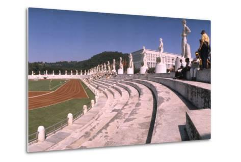 September 1, 1960: Shot of the Olympic Track and Field Stadium, 1960 Rome Summer Olympic Games-James Whitmore-Metal Print