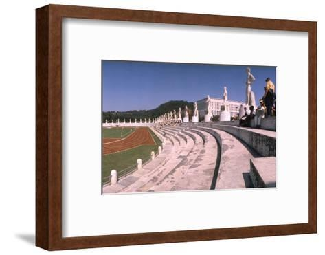 September 1, 1960: Shot of the Olympic Track and Field Stadium, 1960 Rome Summer Olympic Games-James Whitmore-Framed Art Print