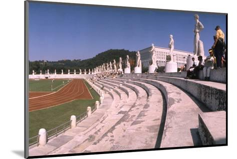 September 1, 1960: Shot of the Olympic Track and Field Stadium, 1960 Rome Summer Olympic Games-James Whitmore-Mounted Photographic Print