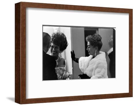 Guests Smoking and Talking at the Met Fashion Ball, New York, New York, November 1960-Walter Sanders-Framed Art Print