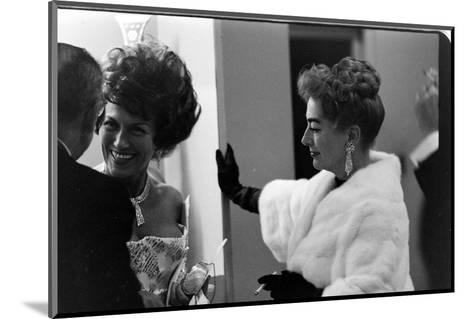 Guests Smoking and Talking at the Met Fashion Ball, New York, New York, November 1960-Walter Sanders-Mounted Photographic Print