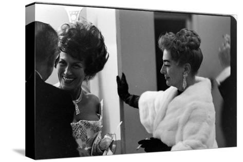 Guests Smoking and Talking at the Met Fashion Ball, New York, New York, November 1960-Walter Sanders-Stretched Canvas Print