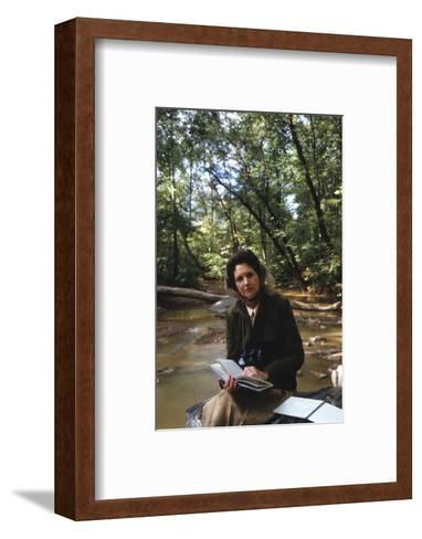 Biologist-Author Rachel Carson Reading in the Woods Near Her Home, 1962-Alfred Eisenstaedt-Framed Art Print