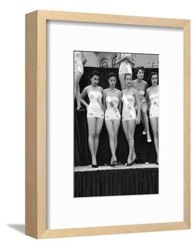 First Miss Universe Contest, Miss Hong Kong Judy Dan, Long Beach, CA, 1952-George Silk-Framed Art Print