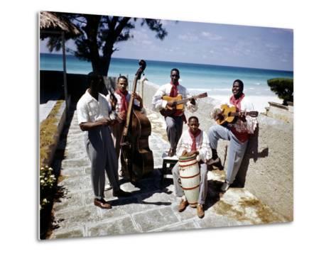 December 1946: Band at the Kastillito Club in Veradero Beach Hotel, Cuba-Eliot Elisofon-Metal Print