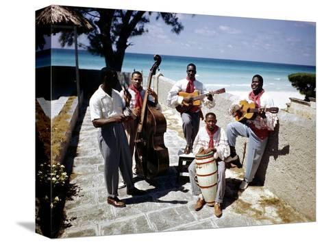December 1946: Band at the Kastillito Club in Veradero Beach Hotel, Cuba-Eliot Elisofon-Stretched Canvas Print