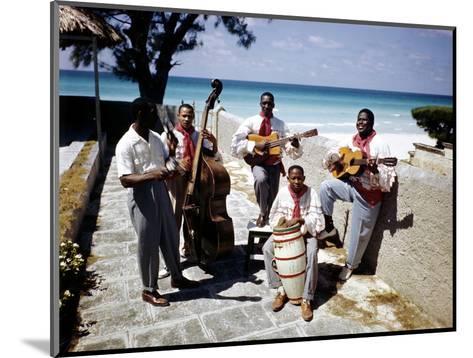 December 1946: Band at the Kastillito Club in Veradero Beach Hotel, Cuba-Eliot Elisofon-Mounted Photographic Print