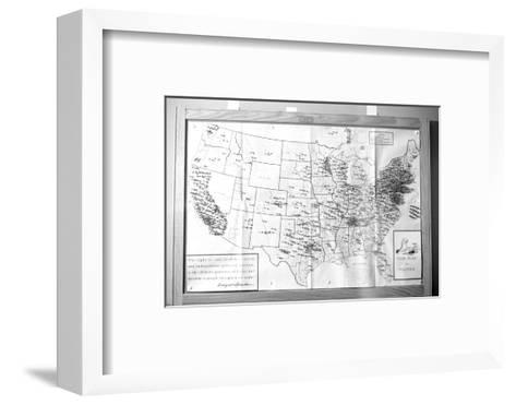 """Us Map """"Fair Play in Politics"""" Displaying Areas with Political Religious Bias, 1960-Walter Sanders-Framed Art Print"""