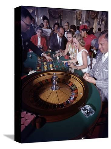 February 11, 1957: Tourists Gambling at the Nacional Hotel in Havana, Cuba-Ralph Morse-Stretched Canvas Print