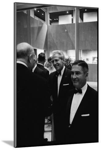 Architect William Pereira and Museum Director Richard Brown at Opening of the La Museum of Art-Ralph Crane-Mounted Photographic Print