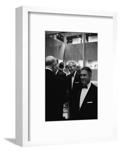 Architect William Pereira and Museum Director Richard Brown at Opening of the La Museum of Art-Ralph Crane-Framed Art Print