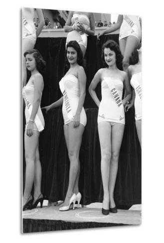 First Miss Universe Contest, Miss Venezuela and Miss Canada, Long Beach, CA, 1952-George Silk-Metal Print