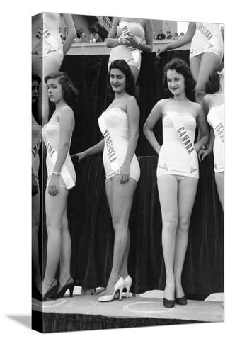 First Miss Universe Contest, Miss Venezuela and Miss Canada, Long Beach, CA, 1952-George Silk-Stretched Canvas Print