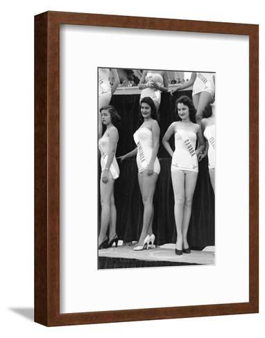 First Miss Universe Contest, Miss Venezuela and Miss Canada, Long Beach, CA, 1952-George Silk-Framed Art Print