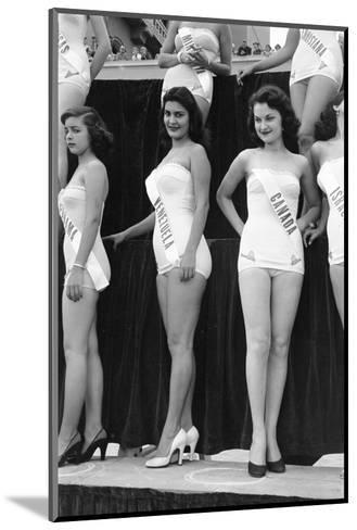 First Miss Universe Contest, Miss Venezuela and Miss Canada, Long Beach, CA, 1952-George Silk-Mounted Photographic Print