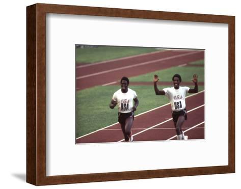 Winners of the 400-Meter Relay Race at the 1972 Summer Olympic Games in Munich, Germany-John Dominis-Framed Art Print