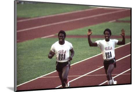 Winners of the 400-Meter Relay Race at the 1972 Summer Olympic Games in Munich, Germany-John Dominis-Mounted Photographic Print