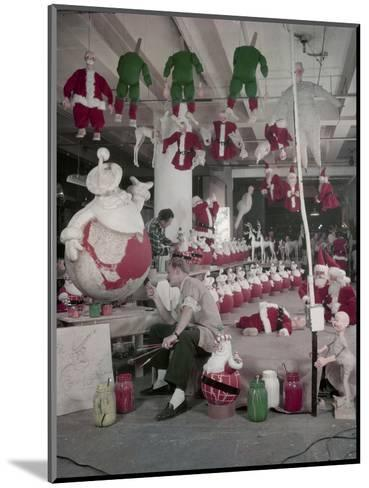 Bliss Display Corporation Employees Create Holiday Decorations in a Warehouse, New York, NY, 1958-Nina Leen-Mounted Photographic Print