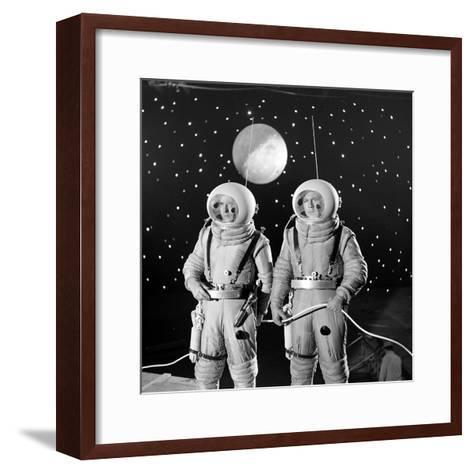 American Actors John Archer (L) and Warner Anderson on Set of 'Destination Moon', 1950-Allan Grant-Framed Art Print
