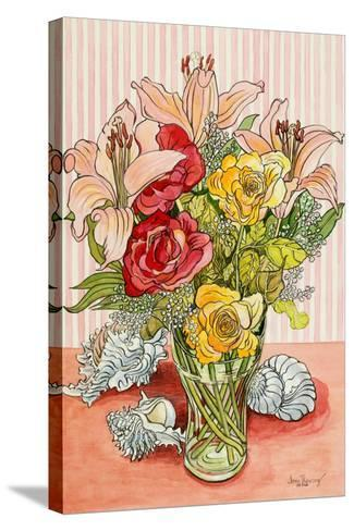 Roses, Lillies and Shells, 2008-Joan Thewsey-Stretched Canvas Print
