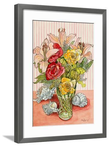 Roses, Lillies and Shells, 2008-Joan Thewsey-Framed Art Print