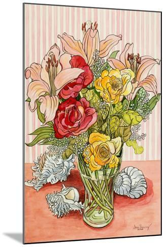 Roses, Lillies and Shells, 2008-Joan Thewsey-Mounted Giclee Print