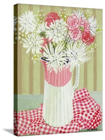 White Chrysanthemums and Spray, 2008-Joan Thewsey-Stretched Canvas Print