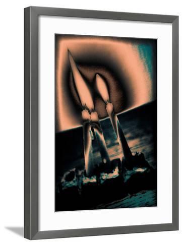 Candles and Menorah, 2016-Joy Lions-Framed Art Print