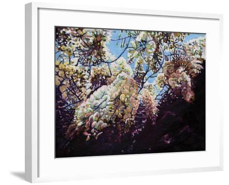 White Wisteria, 2012-Helen White-Framed Art Print